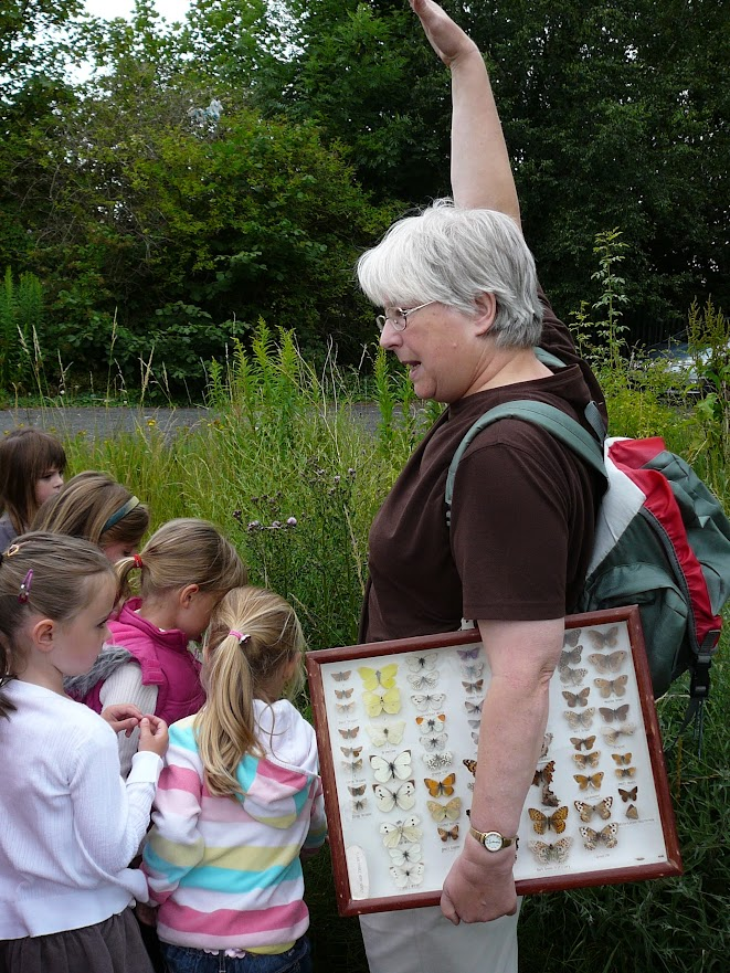 School children on a guided tour of the Butterfly Park