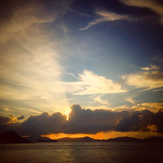Summer, Sunset, Hong Kong, 夏天,日落,香港