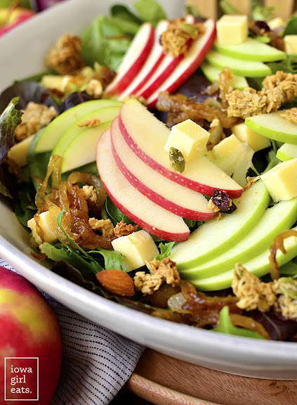 Apple Orchard Salad with Maple-Dijon Vinaigrette | Photo Courtesy of Iowa Girl Eats