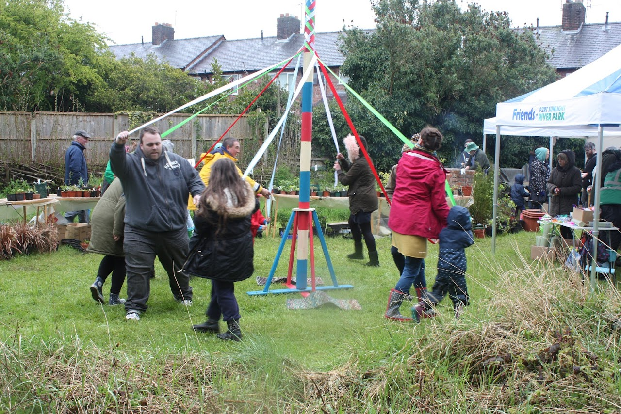 Maypole dancing at Open Day