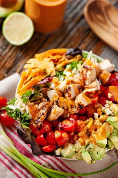 Southwest Cobb Salad with Chipotle Lime Dressing | Photo Courtesy of The Creative Bite