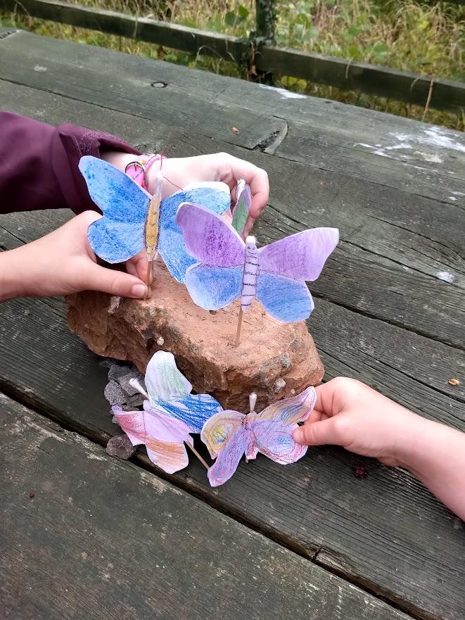 Making paper butterflies