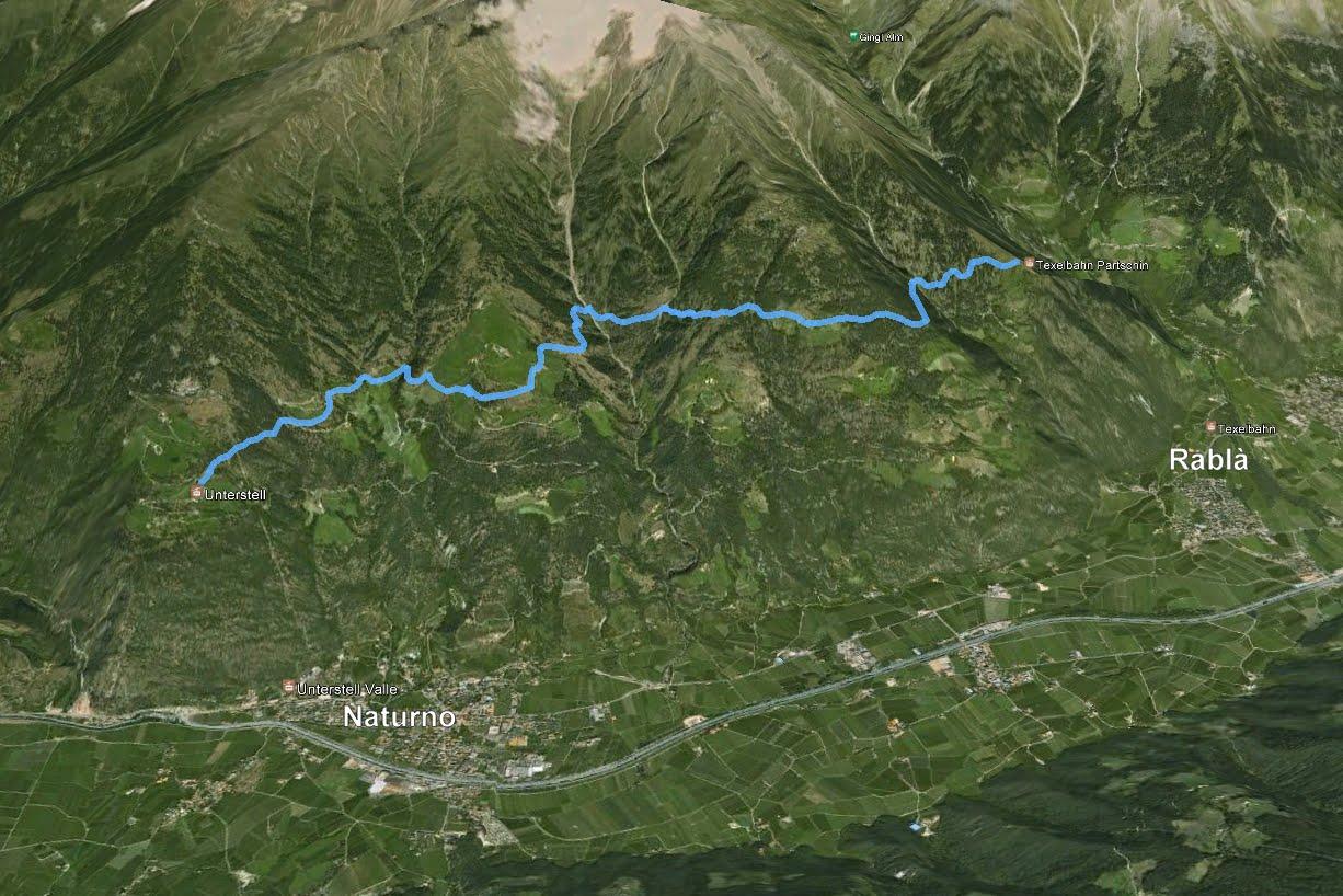 GPS sentiero dei mille gradini