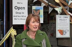 Harriet Harman MP at the opening of The Comma Project