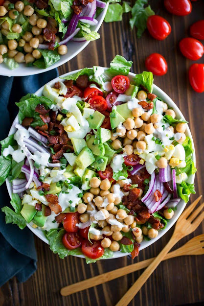 Chickpea Cobb Salad | Photo Courtesy of Peas and Crayons