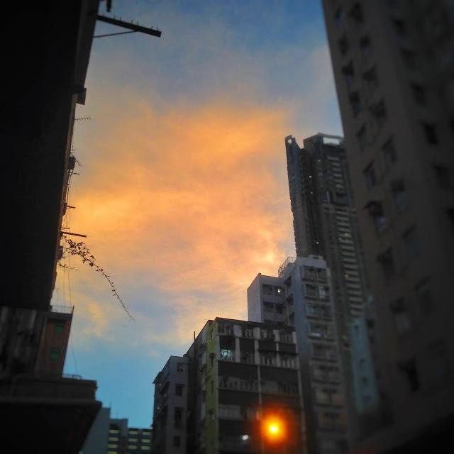 Twilight, dusk, sunset, Hong Kong,  黃昏時, 香港
