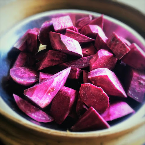 chinese,recipe,Purple Sweet Potato,mooncake,filling,paste,紫地瓜餡,紫地瓜泥,紫蕃薯餡,月餅,餡,泥,蓉