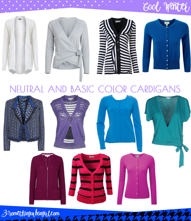 Wardrobe Essential: Neutral and basic color cardigans for Cool Winter women by 30somethingurbangirl.com