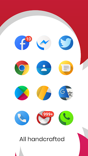 Oreo Silver Circle Icon Pack