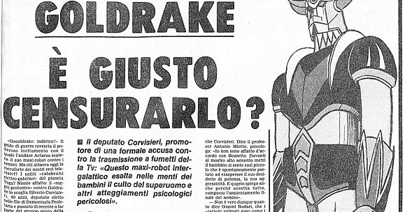 Risultati immagini per goldrake è giusto censurarlo?