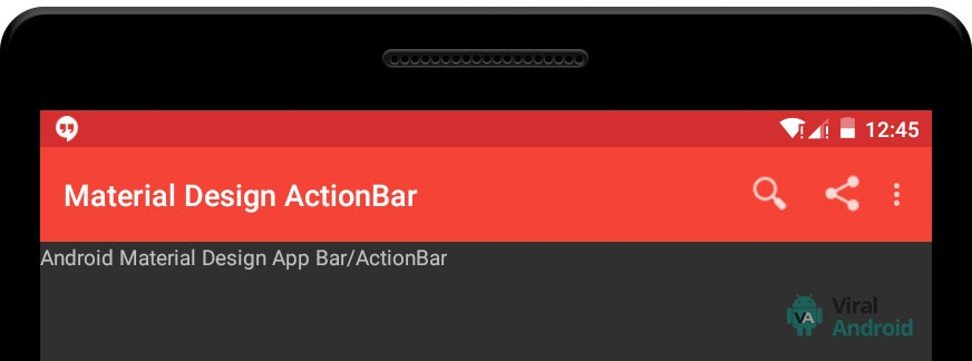 Android Material Design ActionBar/App bar