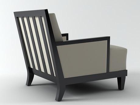 [3Dsmax] 3D model free - Carmel Armchair