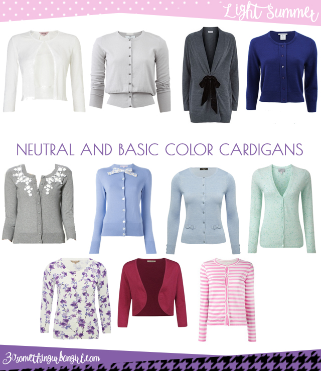 Wardrobe Essential: Neutral and basic color cardigans for Light Summer women by 30somethingurbangirl.com
