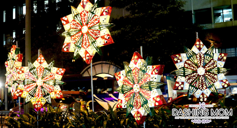 Ceremonial street lighting heralds a Filipino Christmas in the city that makes it happen at Ayala Avenue