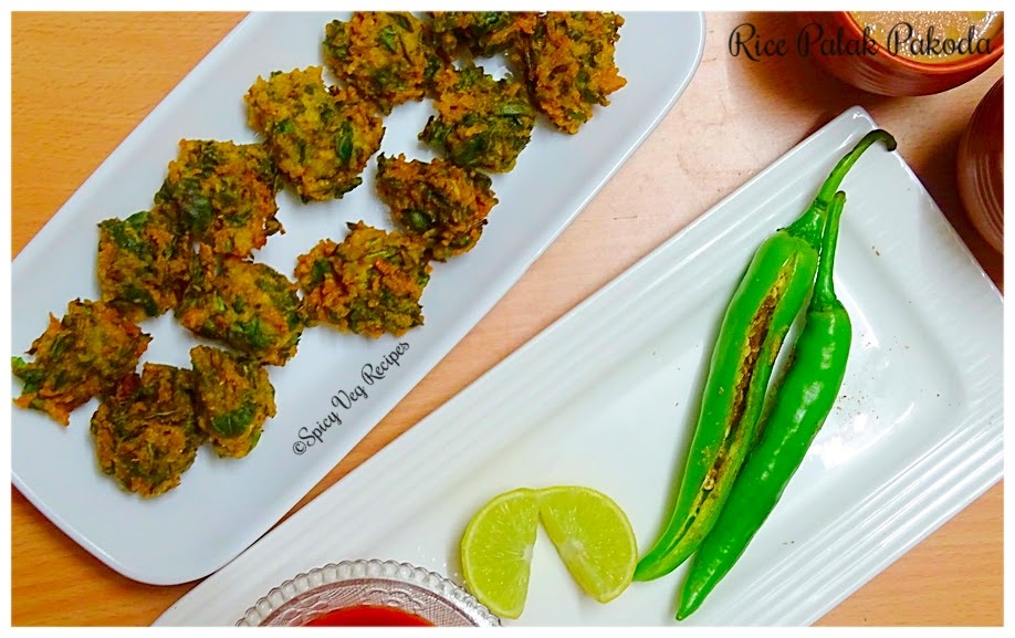 spinach-leftover-rice-fritters-palak-chawal-pakoda-spicy-veg-recipes